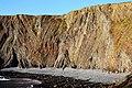 Coloured strata on the cliffs on Warren Beach - geograph.org.uk - 1518539.jpg