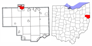 Location of Salem in Columbiana County and in the State of Ohio