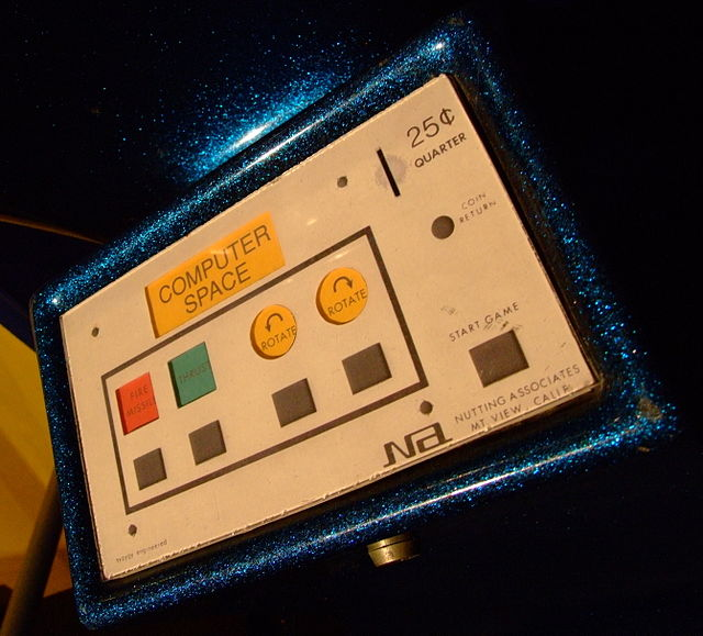 By Gaetan Lee - Cropped version of File:Computer Space Game on-Science museum.jpg, originally at [1], CC BY 2.5, https://commons.wikimedia.org/w/index.php?curid=48168745