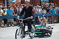 Coney Island- Mermaid Parade - Young Mermaid and Bicycle Sailor.jpg