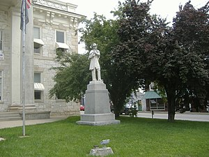 Confederate Monument in Lawrenceburg - Image: Confederate Monument in Lawrenceburg 1