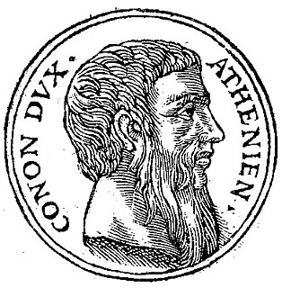 Conon ancient Athenian general and admiral