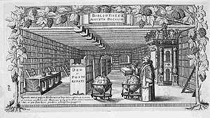 Augustus the Younger, Duke of Brunswick-Lüneburg - Augustus in his library, engraving by Conrad Buno, about 1650
