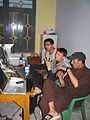 Cooks get computer lessons at the Taj Mahal guesthouse, Jalalabad.jpg