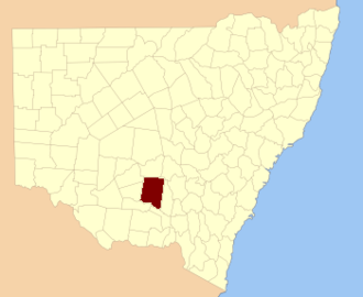 Cooper County, New South Wales - Location in New South Wales