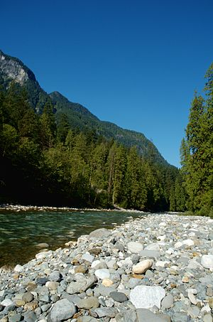 Hope, British Columbia - The Coquihalla River near Hope