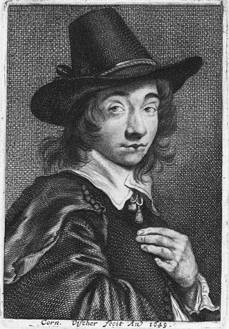 Cornelis Visscher - Self-portrait (1649)