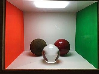 Cornell box - Cornell Box with 3 balls to model how different materials reflect light.