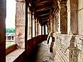 Corridor in Durga Temple in Aihole.jpg