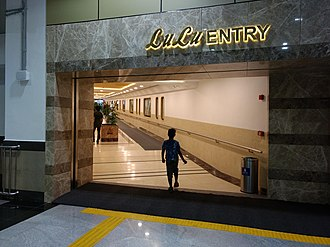 Lulu International Shopping Mall - Skywalk entrance to the mall from Edapally metro station