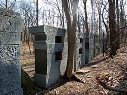Blocks of stone used for structural stone testing
