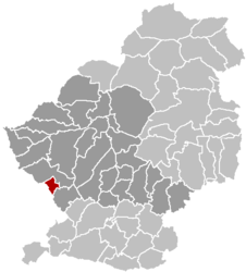 Location of Courchelettes within the Arrondissement Douai