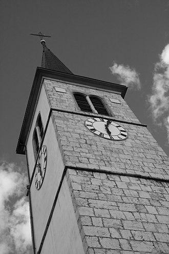 Courrendlin - Courrendlin church tower