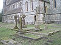 Crosses in the churchyard at Holy Trinity, Privett - geograph.org.uk - 1182304.jpg