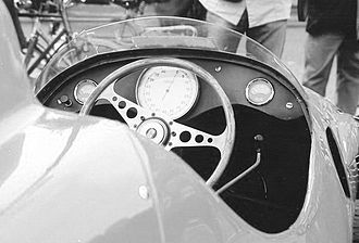 Bandini Formula Three - The instrumentation only shows: rpms, water temperature and oil pressure.