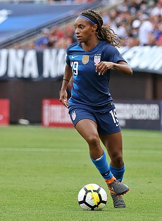 Crystal Dunn - Dunn in a match for the USWNT in June 2018.
