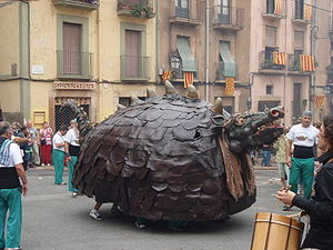 "Coco (folklore) - Cucafera during the ""Fiesta Mayor de Santa Tecla"" in Tarragona, Spain"