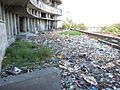 Current situation of the Grande Hotel, waste hump on front façade terrace.JPG