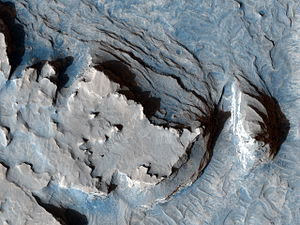 Sinus Meridiani - This image shows an arcuate ridge in Terra Meridiani.