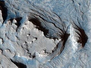 Sinus Meridiani albedo feature on Mars