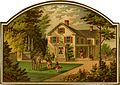 Cutout depicting a game of croquet on the front lawn (14058887739).jpg
