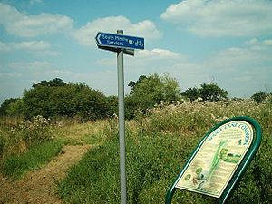 National Cycle Route 12 - Cycle service station at South Mimms