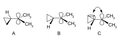 Cyclopropylcarbinyl bisected conformation