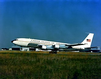 Boeing C-137 Stratoliner - A VC-137B Stratoliner aircraft taking off in 1981