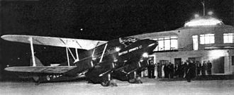 British Airways Ltd - DH.86 of British Airways Ltd at the Beehive (Gatwick Airport), July 1936