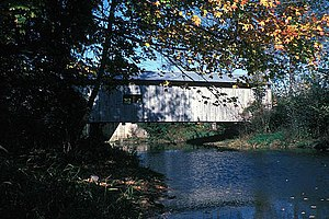 National Register of Historic Places listings in Juniata County, Pennsylvania - Image: DIMMSVILLE COVERED BRIDGE