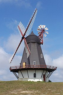Smock mill type of windmill