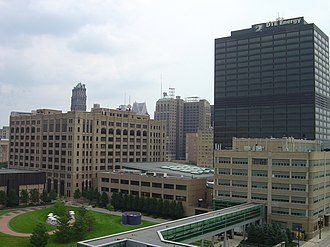DTE Energy Headquarters - Image: DTE Headquarters Campus Improvements Rear