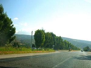 State road D.400 (Turkey) - Between Yeşilovacık and Silifke (Mersin Province)