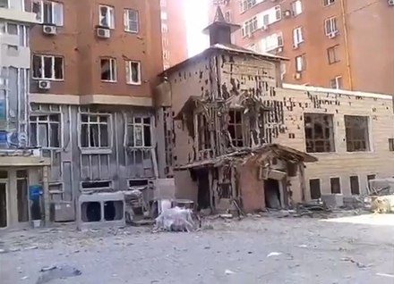 Damaged building in Donetsk, 7 August 2014 Damaged building in Donetsk, August 7, 2014.jpg