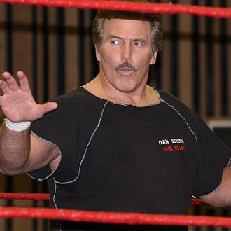 Dan Severn - Severn in the ring at a 2010 event