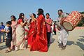 Dancing Devotees - Durga Idol Immersion Ceremony - Baja Kadamtala Ghat - Kolkata 2012-10-24 1352.JPG