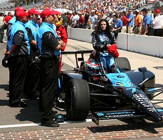 Danica Patrick - Patrick after qualifying for the 2007 Indianapolis 500