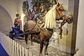 Danish-Norwegian foot artillery uniform ca 1810. Norw. horse-drawn gun carriage 1809 with removable wheels to make sledge (trønderaffutasje). Dragoner 1808 by A. Bloch. Harness (seletøy). Armed Forces Museum (Forsvarsmuseet) Oslo 20.jpg