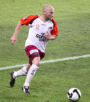 Danny Tiatto - Tiatto playing for Brisbane Roar in 2008.