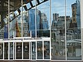 Darling Harbour reflected in the facade of the Maritime Museum. - panoramio.jpg