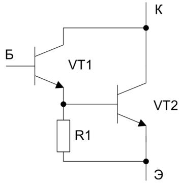 нагрузки транзистора VT1