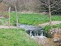 Das Wasser des Eisengriffbaches setzt sich aus gereinigtem Abwasser und gelegentlichem Niederschlagswasser zusammen. - panoramio.jpg