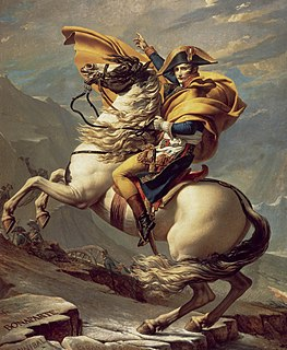<i>Napoleon Crossing the Alps</i> series of paintings by Jacques-Louis David in 5 versions