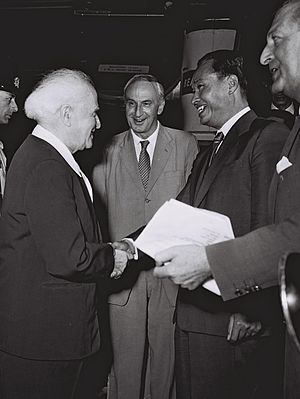 Ne Win - David Ben-Gurion, the Prime Minister of Israel and General Ne Win as Prime Minister of Burma in 1959