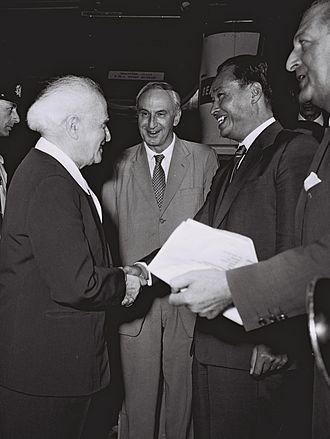Ne Win - David Ben-Gurion, the Prime Minister of Israel and General Ne Win as Prime Minister of Burma in 1959