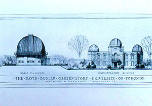 David Dunlap Observatory - Concept sketch of David Dunlap Observatory