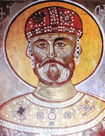 Царь мириан iii, фреска iv в галерея фото православного форума апостола андрея первозванного