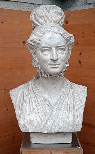 Amelia Opie - Amelia Opie by David d'Angers (1836).