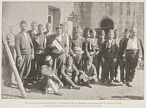 Occupation of the Ottoman Bank - Surviving members of the takeover after they arrived in Marseille.