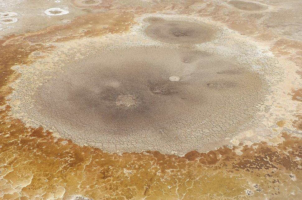 Dead Sea salt formation (Aerial view, 2007)